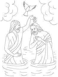 Jesus Baptism Coloring Pages Coloring Page Jesus Baptism Coloring