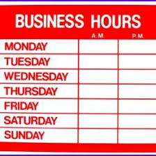 printable store hours sign store sign template guitar store vector 96613640735 business
