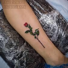 татуировки роза в стиле реализм цветная женские фото качество