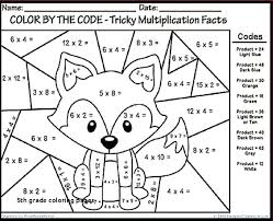 Free Math Coloring Worksheets 5th Grade Printable For Decimals