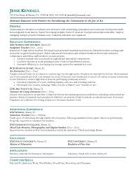 Artist Resume Samples Experience Resumes