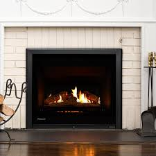 rinnai 750 gas fire natural gas 3 sided black xl 660 high x 825 wide glowing stones