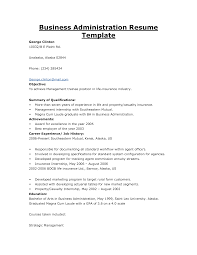 Sample Resume For Business Administration Internship Resume