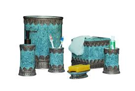 Bathroom Canisters Silver Glitter Bathroom Accessories Blue