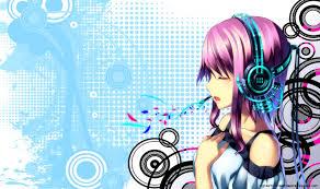 anime music wallpaper. Simple Music Anime Music Girl Wallpaper HD 21396 On E