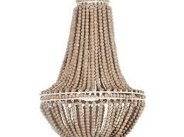 wooden bead chandelier