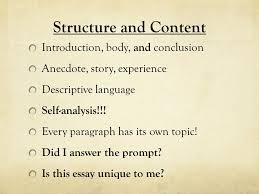 academic writing the common college essay ppt video online 5 structure