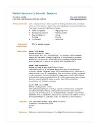 Medical Secretary Resume Examples Medical Secretary Resume Template Resume Examples 8