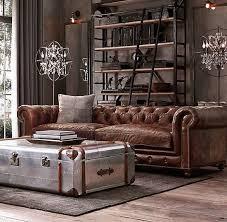 industrial style living room furniture. decoracin industrial en un loft chesterfield living roomchesterfield leather sofamasculine style room furniture