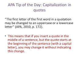 Quotes In A Sentence Adorable APA Tip Of The Day Quotes Ppt Download