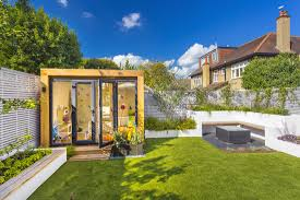 outdoor office space. One Of Our Favourite Features About This Outdoor Office Is How The External Compliment Space. Oak-themed Exterior Looks Stunning Space