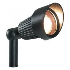 plug play focus black outdoor garden mounted spike light spotlight