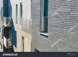 Design Modern Apartment Building Facade Tile Stock Photo - Modern apartment building facade