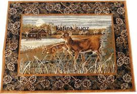 deer area rug country wildlife cabin deer area rug brown actual size x 5 area rugs