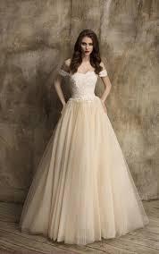 champagne gold bridal dresses gold sequined wedding dress