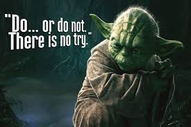 Diy Frame Star Wars Yoda Quotes There Is No Try Classic Movie Film