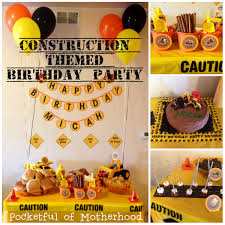 Construction Birthday Party Decorations Construction Themed Birthday Party Pocketful Of Motherhood