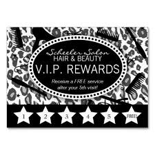 Free Leopard Print Business Card Template Snow Leopard Print Salon