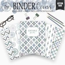 Free Editable Binder Covers And Spines Editable Binder Covers And Spines 3 Ring Notebook Cover Editable Printable Student Binder Cover School Teacher Planner Monogram Bnd01