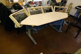 diy sit stand desk sit stand desk build with motorized frame diy sit stand desk converter