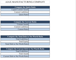 Business Net Worth Calculator Solved Using The Useful Business Ratios Guide Size Up Th