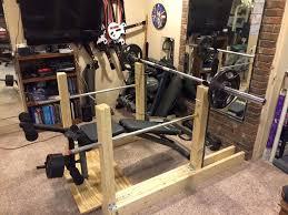 diy bench press plans 12 best wooden squat rack images on