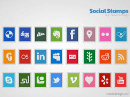 Stamps Template Social Stamps Icon Set Stamp Template Freebies