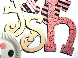 painted wooden letters wooden letters design stained and hand painted wood letters a font fun lettering