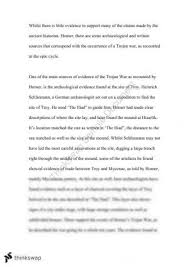 "evaluate the historicity of the trojan war"" essay year hsc  essay on the trojan war"