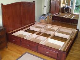 full size of bedroom raised bed with drawers underneath bed frame with drawers on one side