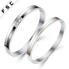 personalized jewelry manufacturer china custom made snless steel love forever couple zircon bracelet bangles