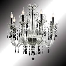 vittoria 8 lights crystal and black murano glass