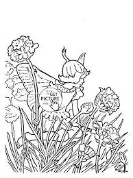 Small Picture Flower Fairy Thrift coloring page for kids for girls coloring