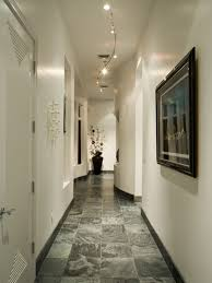 Hallway Lighting Amazing Hallway With White Walls And Framed Wall Picture Also