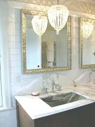 mini chandeliers for bathroom inspiring crystal chandelier inside small plan 19