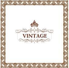 set of vine ornate frames vector art