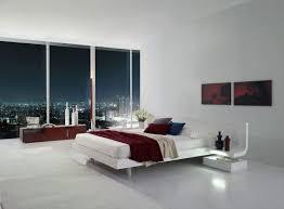 white modern master bedroom. Firenze White Lacquer Platform Bed With Built In Nightstands \u0026 LED Lights - Modern Bedroom Master T