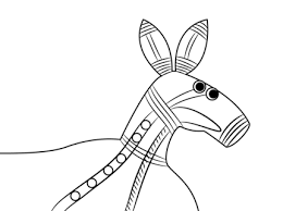 Aboriginal Painting Of A Kangaroo Colouring Pages For Children Of