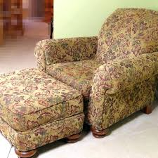 overstuffed chair and ottoman with upholstered regarding idea armchair used