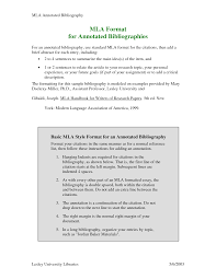 Format For Annotated Bibliography Sample Apa Annotation