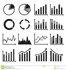Free Charts And Graphs Infographic Icons Charts And Graphs Stock Vector
