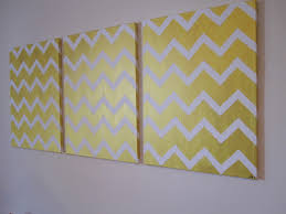 metallic gold chevron tape painting