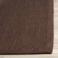 safavieh natural fiber sisal 5 nf133d chocolate dark brown rug tropical area rugs by plushrugs