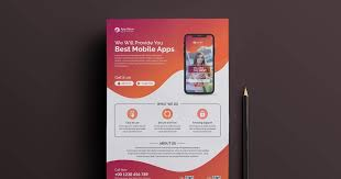 Make Flyer App Mobile App Flyer Template Maxpoint Hridoy Graphic