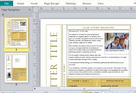 Microsoft Office Word Newsletter Templates Free Newsletter Templates