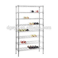 chrome wine rack. Fine Rack Chrome Wine Rack 8 Shelves Stores And Displays Up To 72 Wine Bottles Intended A