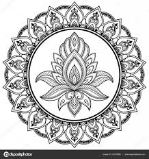 индийские орнаменты тату круговой узор в виде мандалы хна