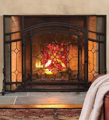 stained glass fireplace screen astonishing as wells as fireplace screens accessories x stained glass fire