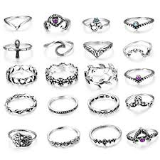 LOLIAS <b>20 Pcs</b> Vintage Knuckle <b>Ring Set</b> for Women Girls Stackable ...