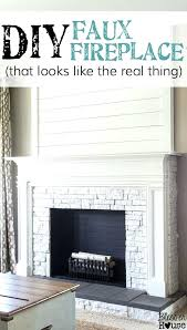 diy fake fireplace mantel faux fireplace updated this fireplace looks so real and it cost about diy fake fireplace mantel
